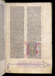 Decorated Initial, In Ivo of Chartres, Commentary On The Psalms f.2r